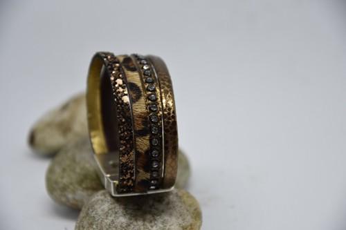 N°17 Lederen Armband Tijgerprint