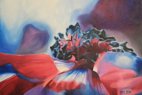 Schilderij bloem 2