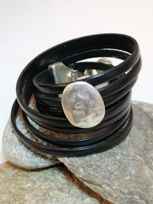 N°8 Wikkel Armband zwart