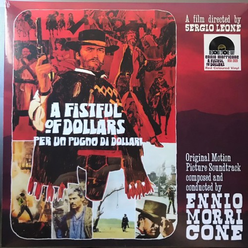 "Ennio Morricone - A Fistful Of Dollars ""Per Un Pugno di Dollari"" (Red vinyl) - RSD20 Jun  (LP)"
