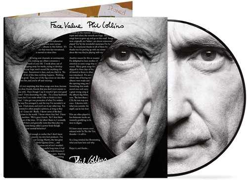Phil Collins - Face Value (Picture Disc) 40th anniversary - Indie Only (LP)